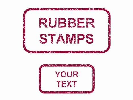 Rubber Stamps in PowerPoint - stamp template