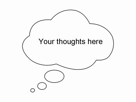 Thought and Speech Bubbles Clip Art