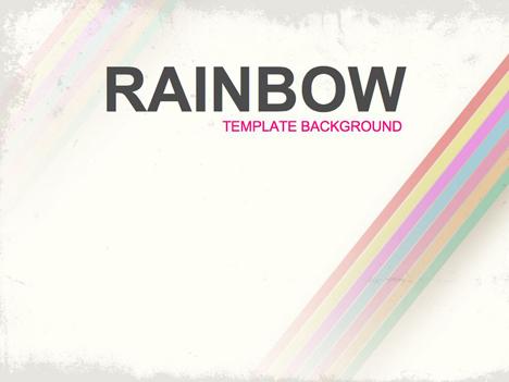 Rainbow Background Design - rainbow powerpoint