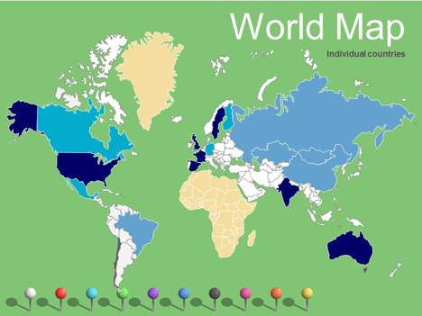 World Maps Vector Editable \u2013 Updated 2017