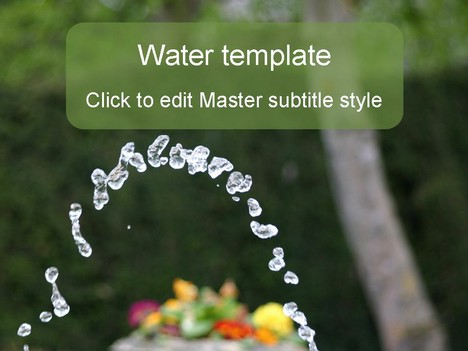 Cool Water PowerPoint Template