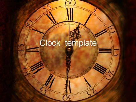 Clock Face PowerPoint Template - clock templates