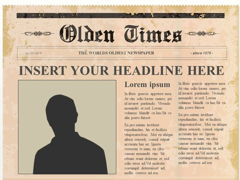 Editable Olden Times Newspaper - old newspaper template
