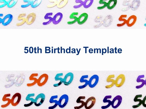 50th Birthday Template