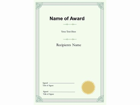 Portrait Certificate Template - blank certificate of recognition