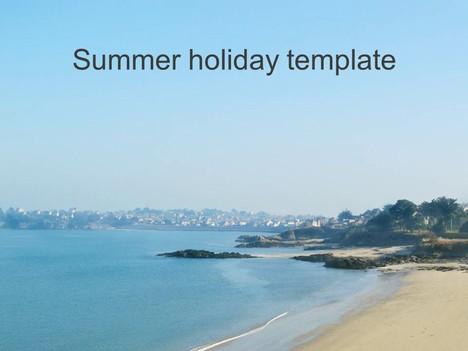 Summer Holiday PowerPoint Template - summer powerpoint template