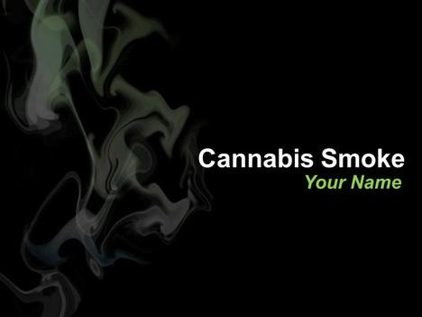 Cannabis Smoke PowerPoint Template