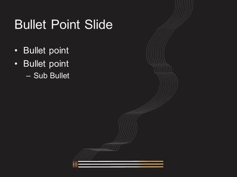 Lit Cigarette PowerPoint Template