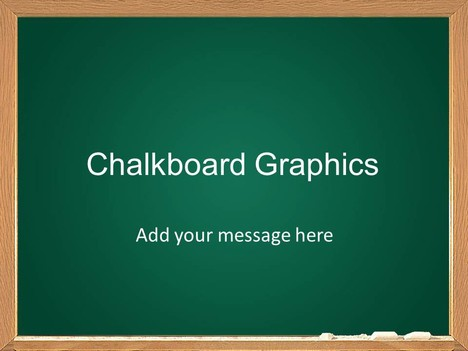 Chalkboard Graphics Template