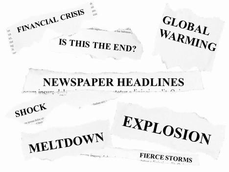 Free Newspaper Headlines Powerpoint Template - newspaper headline template