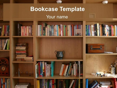 Bookcase PowerPoint Template - powerpoint books