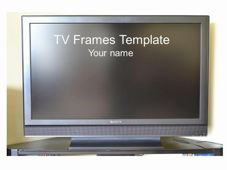 Wide-screen TV Frame Template