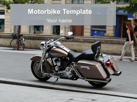 Free Motorbike PowerPoint Template