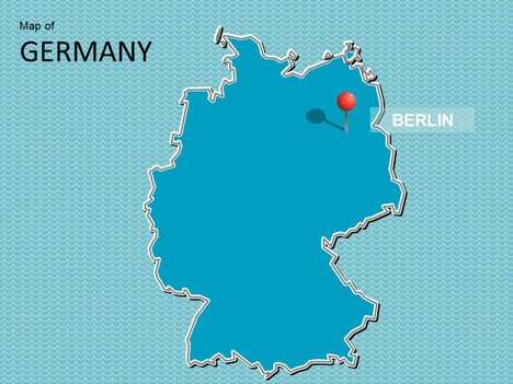 Map of Germany Template - Map Template