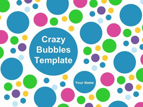 Bubble Chart Template - bubbles power point