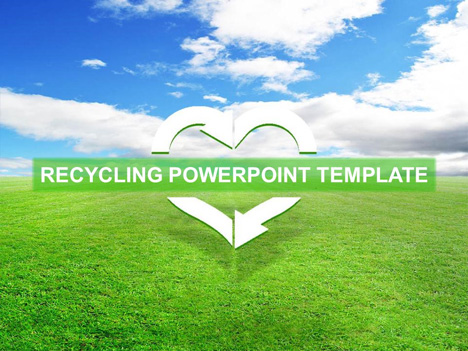 Free Recycling Template - recycling powerpoint templates