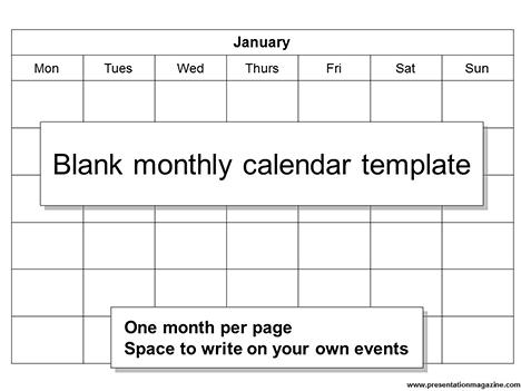 Presentation Magazine - Calendar Powerpoint Templates - calendar template