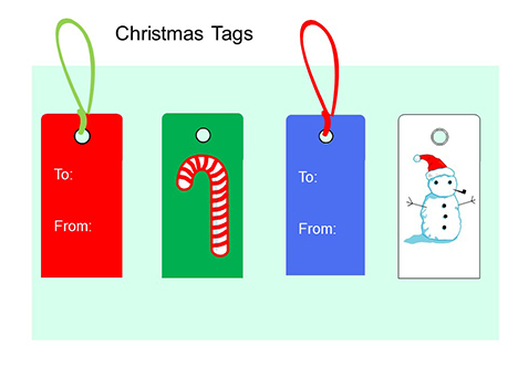 Christmas Tags PowerPoint - christmas bookmark templates