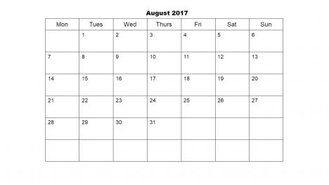 Academic Calendar 2017 PowerPoint Template