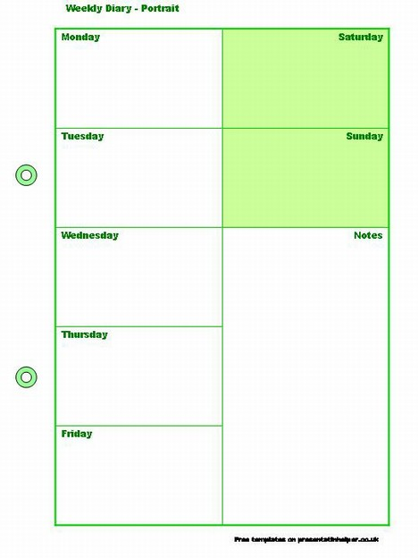 Powerpoint Weekly Calendar Template  Resume Templates It Professional