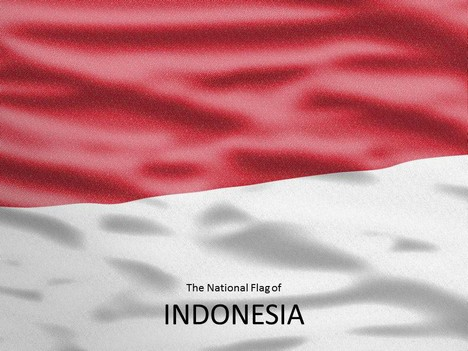 Download Video Indonesia template showing the national flag and an editable map of Indonesia x