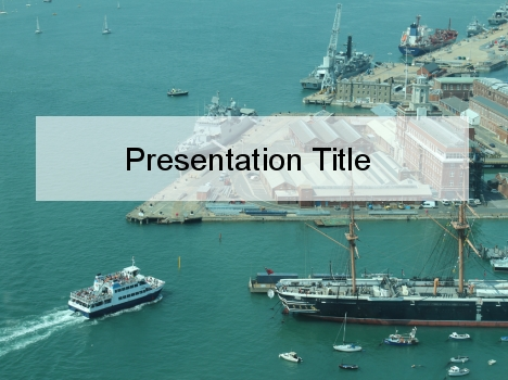 Maritime Navigation PowerPoint Template - navy powerpoint templates