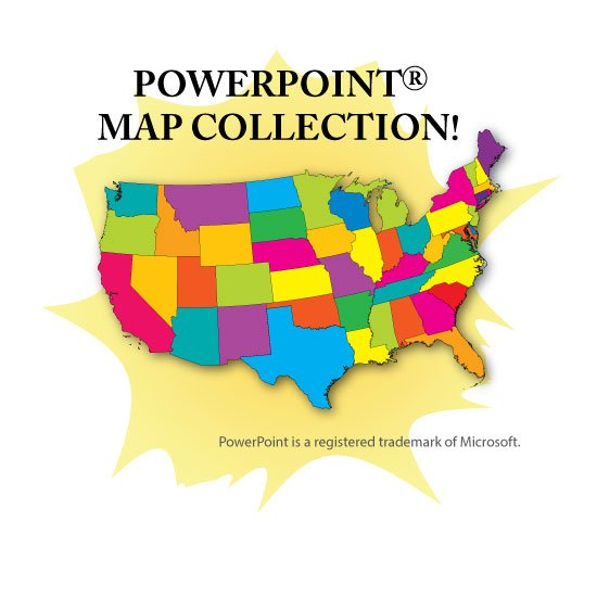 PowerPoint Map Collection - USA, US States, Continents  Counties