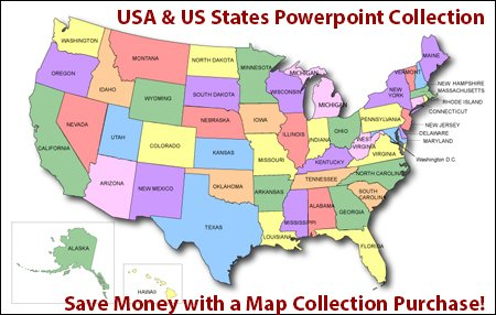 USA  US States Clickable HTML Map Collection - interactive us maps for powerpoint