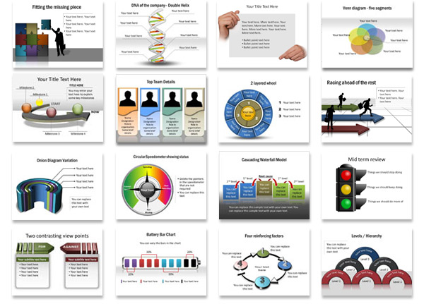 New!! PresentationDiagrams Plus - smartart powerpoint template