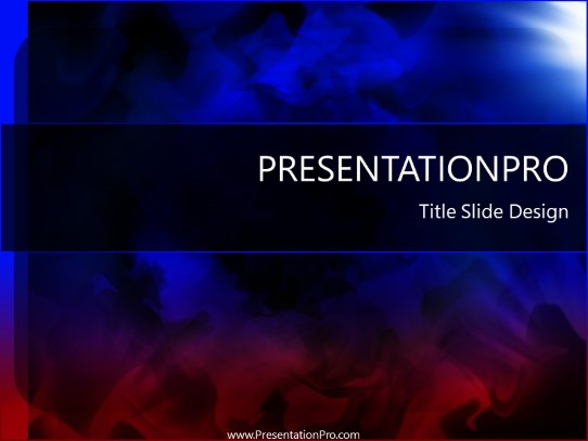 Smoke PowerPoint template background in Abstract - Textures