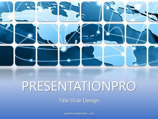 Global Data Grid PowerPoint template background in Business