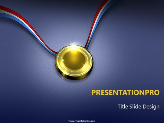 The Gold Medal PowerPoint template background in Business - Concepts