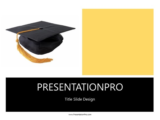 Graduation Cap PowerPoint template background in Education and