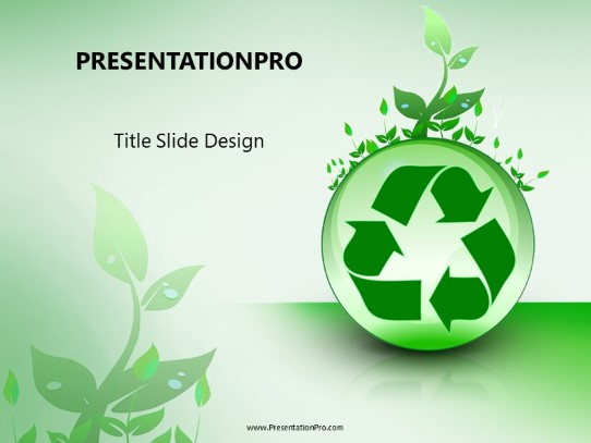 Recycle With Leaves PowerPoint template background in Environmental