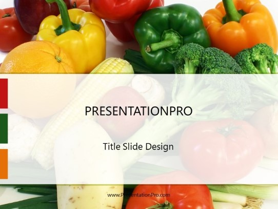 Vegetable Tumble PowerPoint template background in Food and Beverage
