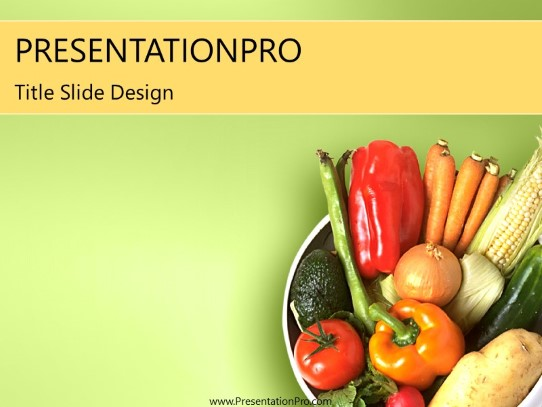 Veggie PowerPoint template background in Food and Beverage