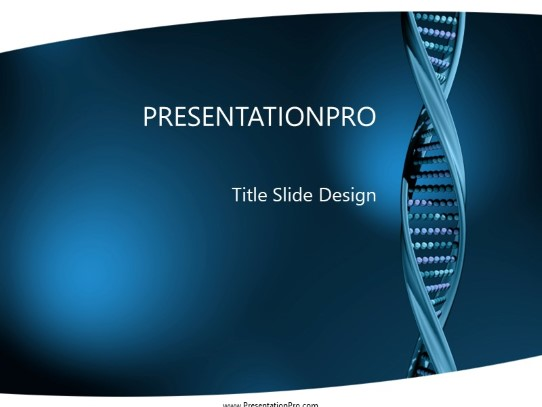 Dna Structure PowerPoint template background in Medical - Healthcare