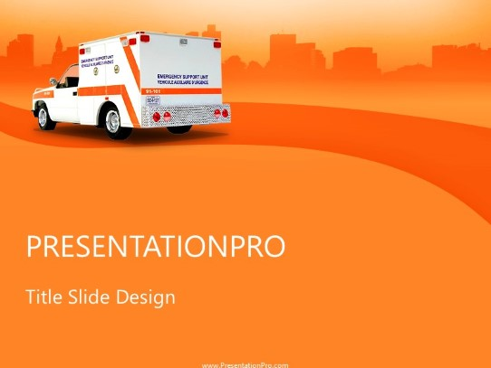 Ems PowerPoint template background in Medical - Healthcare