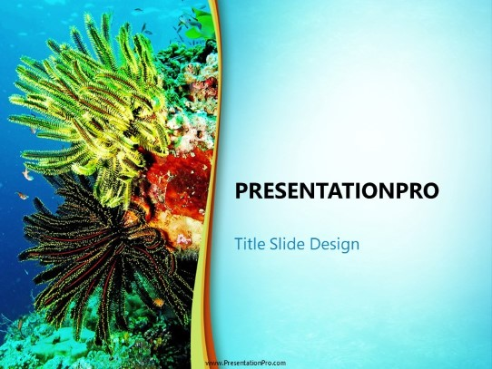 Marine Life PowerPoint template background in Nature PowerPoint ppt