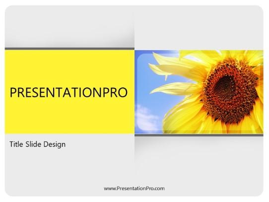 Summer Season PowerPoint template background in Nature PowerPoint