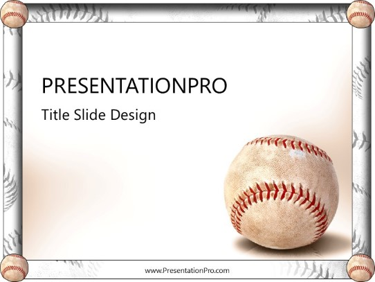 Baseball PowerPoint template background in Sports and Leisure