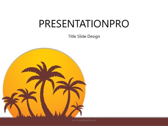 Summer Sunset PowerPoint template background in Sports and Leisure