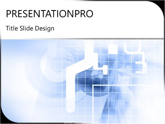 Digi Grid PowerPoint template background in Technology - Computers