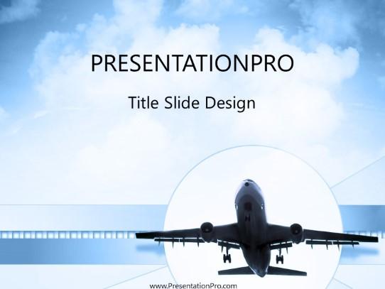 Plane Landing PowerPoint template background in Transportation