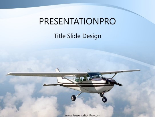 Single Engine Plane PowerPoint template background in Transportation