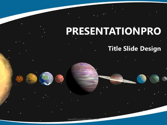 Astronomy Solar System PowerPoint template background in PowerPoint