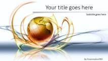 Global Swirls A Widescreen PowerPoint template background in Global - global powerpoint template
