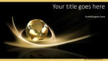 Global Swirls B Widescreen PowerPoint template background in Global - global powerpoint template
