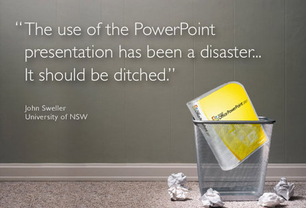 Presentation Zen Is it finally time to ditch PowerPoint? - quote on presentation