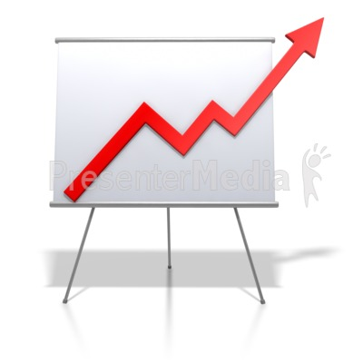 Financial Graph Increase - Signs and Symbols - Great Clipart for
